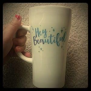 "NWOT ""Hey Beautiful"" On the Go Mug"